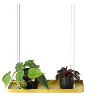 Plant tray hanging rect. gold S