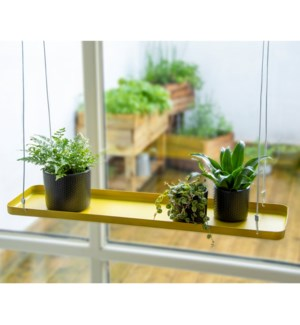 Plant tray hanging rect. gold L