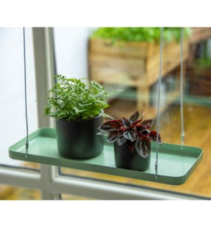 Plant tray hanging rect. green S