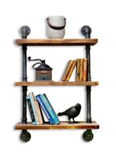 Industrial Shelf w Tubing 3 Shelves 24Wx9.8D