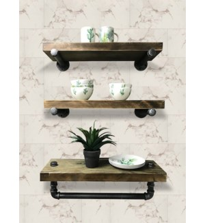 Industrial Shelf w Tubing Set/3 Large, 26Wx8.7D