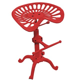 Tractor Seat Stool Red Adjustable Cast Iron14.2x21.6-30 in On sale 25 percent off