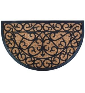 Rubber doormat/cocos halfround