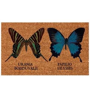 Coir doormat butterflies. Coconut Fibre. 1.1x29.5x17.7inch. On sale 35 percent off original price