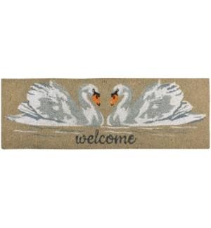 Coir doormat swan