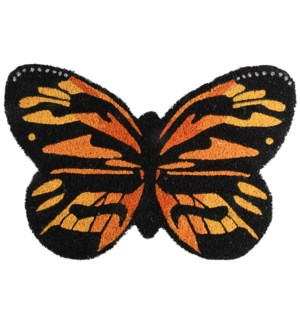 Doormat coir butterfly, Coconut fibre, PVC - 23.6x15.7x0.7in.