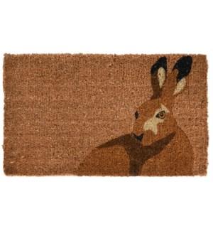 Doormat coir hare, Coconut Fibre - 29.5x17.7x0.7in.