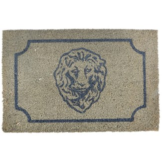 Doormat coir lion head - 24.5x16x1 inches
