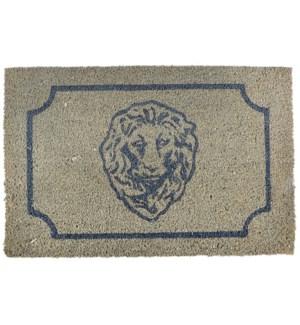 Doormat coir lion head