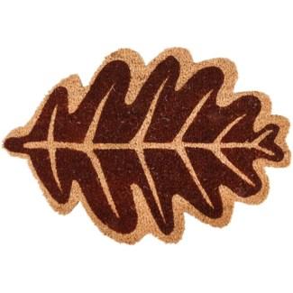 Doormat coir leaf autumn, Coconut fibre, PVC - 23.6x15.6x0.6in.