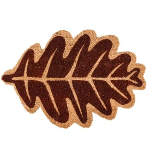 """Doormat coir leaf autumn, Coconut fibre, PVC - 23.6x15.6x0.6in."""