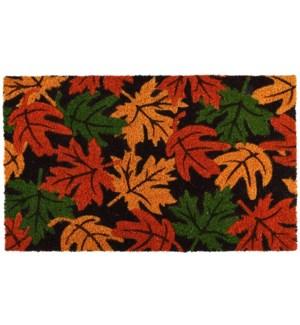 Doormat coir autumn leaves