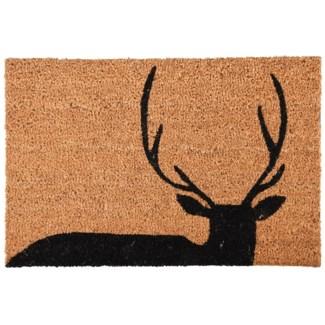 Doormat coir deer, Coconut fibre, PVC - 23.6x15.7x0.6in.