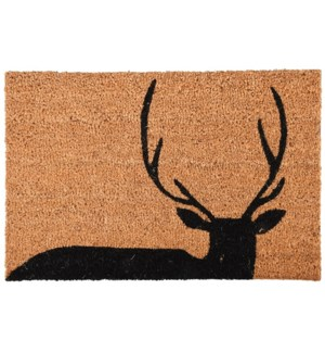 Doormat coir deer