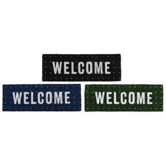Doormat coir welcome ass, Coconut fibre, PVC - 29.7x10x0.8in.