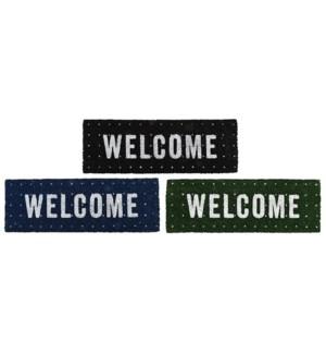 """""""Doormat coir welcome ass, Coconut fibre, PVC - 29.7x10x0.8in."""""""
