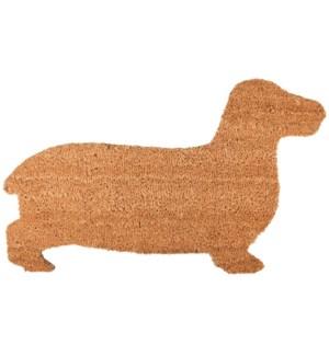 Doormat coir dog, Coconut fibre, PVC - 29.6x17.7x0.7in.
