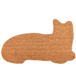 """""""Doormat coir cat, Coconut fibre, PVC - 29.3x16.9x0.7in."""""""