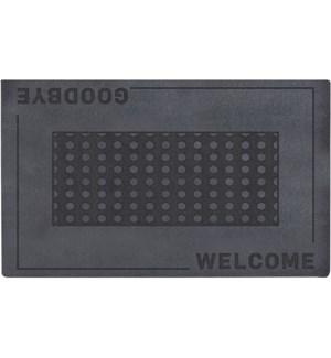 Doormat relief welcome/ goodbye - 29.5x17.7x0.1in.