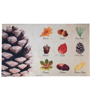 """Doormat collectibles trees, Polyester, PVC - 29.5x17.9x0.1in."""