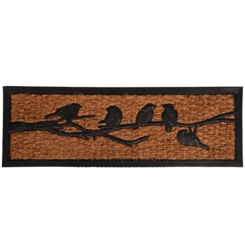 Rubber doormat/coir birds on tree