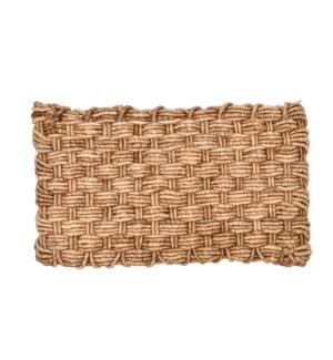 Jute doormat Dutch weave fourfold