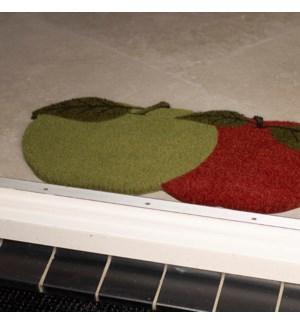Coir doormat apples