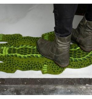 Coir doormat crocodile