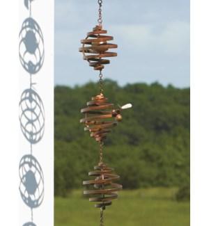 Bee Spiral Rain Chain