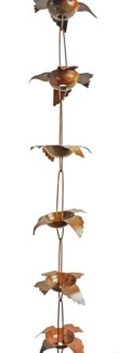 Flamed Bird Rain Chain 5.5x96 inch. Pg.44 - On Sale 50 percent off original price 59.4