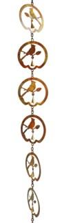 Flamed Bird w/Bell Rain Chain - 4x96 inches