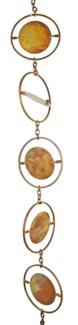 Flamed Circle Rain Chain 4x96 inch. Pg.45
