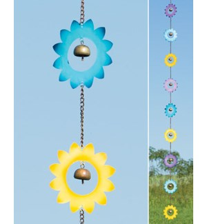 Multicolor Flower Rain Chain