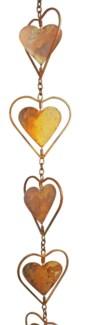 Flamed Heart Rain Chain 4x96 inch. Pg.43