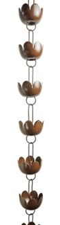 Lily Cup Rain Chain 3x96 inch. Pg.43