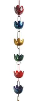 Multicolor Lily Cup Rain Chain 3x96 inch. Pg.43