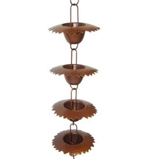 Leaf Lip Cup Rain Chain 3x96 inch. Pg.44 - On Sale 50 percent off original price 58.5