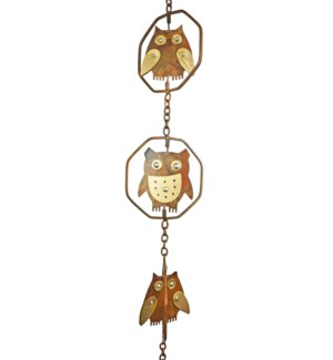 Flamed Owl Rain Chain LC
