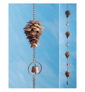 Flamed Pine Cone Rain Chain