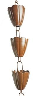 Scallop Cup Rain Chain 3x96 inch. Pg.44
