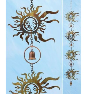 Flamed Sun Face Rain Chain