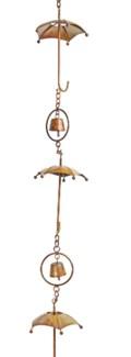 Flamed Umbrella Rain Chain 4x92 inch. Pg.42