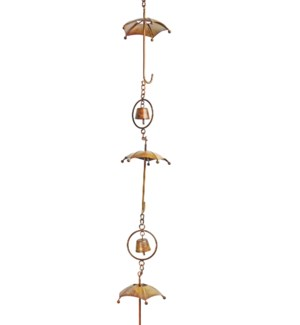 Flamed Umbrella Rain Chain 4x92 inch. Pg.42