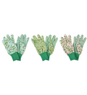 Rose print garden glove ass. 0. 12,0x10,0x26,3cm. oq/12,mc/240 Pg.137