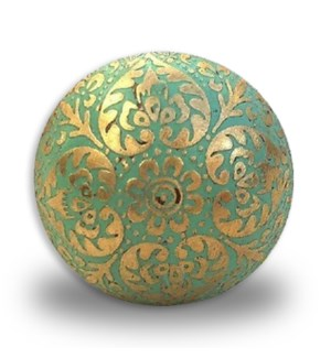 """""""Brass etched colored knobs, sage, D: 1.5 in"""""""