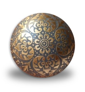 """""""Brass etched colored knobs, purple, D: 1.5 in"""""""