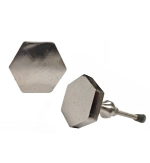"""""""Hex Knob, Silver Finish, Cast, On Sale 35% Off"""""""