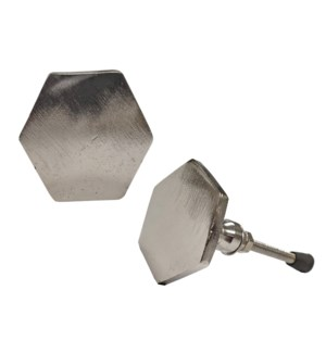 """""""Thin Hex Knob, Silver Finish,, On Sale 35% Off"""""""