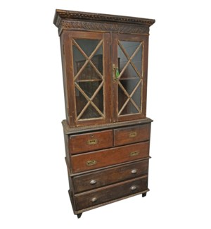 755-Old Stained Glass Dresser.