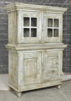 Antique Wood Cabinet, Cream - 48.1x21.7x68.9 inches